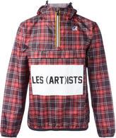 Les (Art)ists K-Way X logo print checked jacket