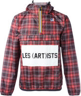 Les (Art)ists logo print checked jacket