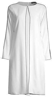 Piazza Sempione Women's Long-Sleeve Cady Shift Dress