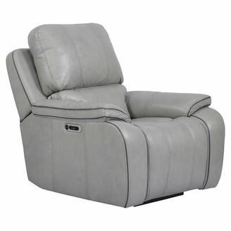 Red Barrel Studio Aycock Leather Power Recliner Fabric: Gray