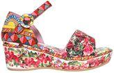 Dolce & Gabbana 3.5cm Mambo Print Brocade Wedges