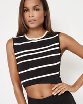 ONISSA Striped knitted crop top