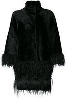 Drome fringed cape-style coat
