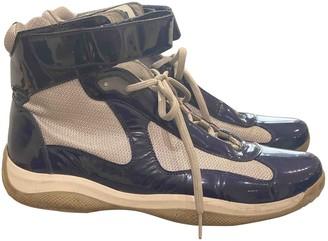 Prada Blue Patent leather Trainers