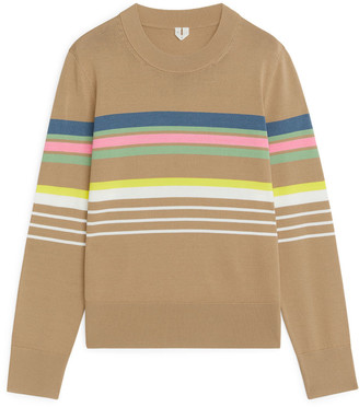 Arket Striped Viscose Jumper