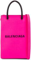 Balenciaga Shop Phone Holder Bag in Acid Fuchsia | FWRD