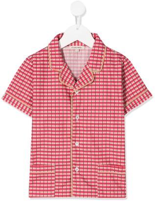 Caramel Holborn checked shirt