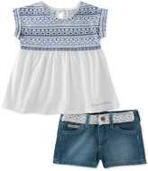 Calvin Klein 2-Pc. Shirt & Shorts Set, Toddler & Little Girls (2T-6X)