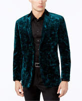 INC International Concepts Men's Slim-Fit Crushed Velvet Blazer, Created for Macy's