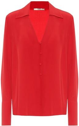 Fendi Silk-crepe blouse