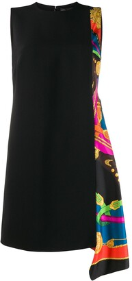 Versace Printed Panel Shift Dress