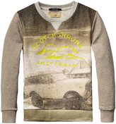 Scotch & Soda Kids Crewneck Sweatshirt (Kid) - Print Grey-6