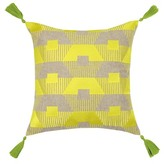 Trina Turk 20x20 Torrance Neon Embroidered Pillow - Yellow