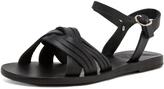 Ancient Greek Sandals Electra Calfskin Leather Sandals in Black