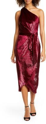 Ted Baker Abinaa One-Shoulder Drape Midi Dress