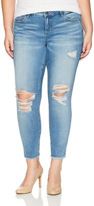 SLINK Jeans Women's Plus Size Ankle Jean