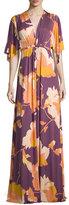Rachel Pally Floral-Print Long Caftan Maxi Dress, Desert Flower