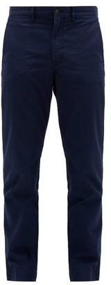 Polo Ralph Lauren Logo-embroidered Straight-leg Cotton Chinos - Mens - Navy