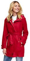 Lands' End Women's Petite Metro Rain Coat-Bright Cardinal