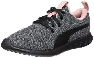 Puma Women's Carson 2 Knit NM WNS Running Shoes Black White-Bridal Rose 6 UK 39 EU