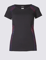 M&S Collection Performance Track Print T-Shirt