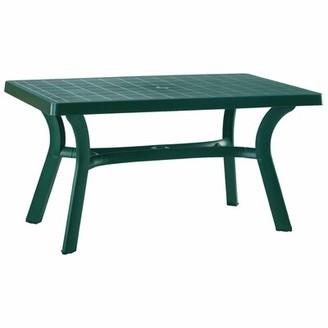 "Snake River Rectangular 29"" Table Red Barrel Studio Finish: Green, Table Size: 55"""