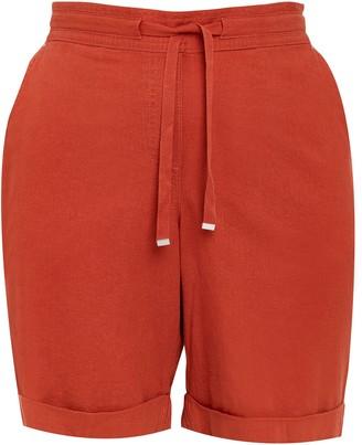 Evans Rust Linen Blend Shorts