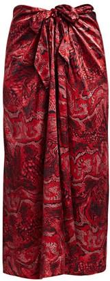 Ganni Silk Stretch Long Skirt