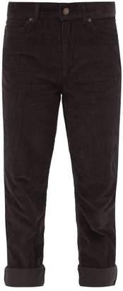 Marc Jacobs Slim Leg Corduroy Trousers - Womens - Dark Grey
