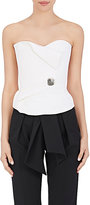 Lanvin Women's Embellished Wool Strapless Blouse