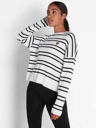 Lyle & Scott Striped Knitted Jumper - White
