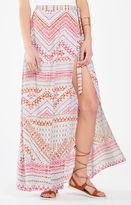 BCBGMAXAZRIA Aviva Geometric Print Wrap Maxi Skirt