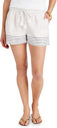 Vineyard Vines Lurex Stripe Pull-On Linen Shorts