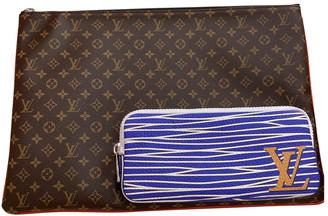Louis Vuitton Pochette A4 Brown Cloth Bags