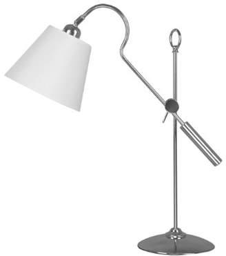 Premier Housewares B22 Adjustable Nickel Table Lamp, 40 W - White