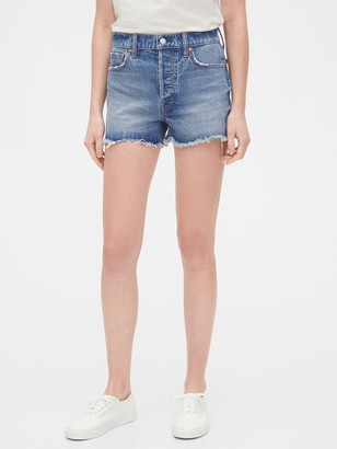 Gap High Rise Cheeky Denim Shorts with Raw Hem