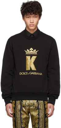 Dolce & Gabbana Black King Patch Sweatshirt