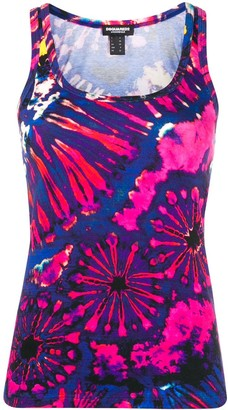DSQUARED2 tie dye vest top