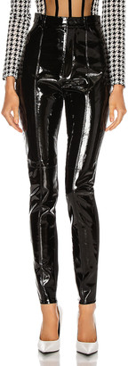 David Koma Patent Leather Legging in Black | FWRD