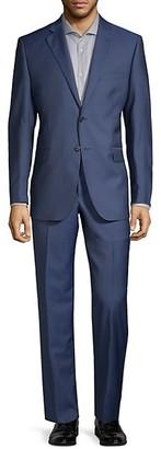 Saks Fifth Avenue Two-Piece Slim-Fit Wool Silk Herringbone Suit