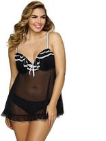 Jezebel Plus Size Tiffany Babydoll & Panty Lingerie Set 999895