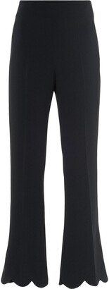 Miu Miu Faille Cady Scallop-Hem Trousers