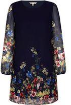 Yumi English Floral Print Tunic Dress