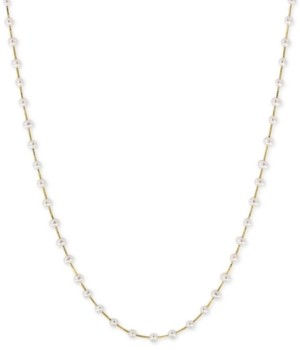 Effy Cultured Freshwater Pearl (3mm) Statement Necklace in 14k Gold, 14k White Gold or 14k Rose Gold