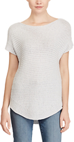 Lauren Ralph Lauren Short Sleeve Boat Neck Jumper, Silver