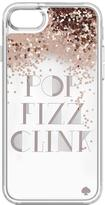 Kate Spade New York Liquid Pop, Fizz, Clink Glitter Fashion Case for iPhone 7 - Rose Gold/Clear