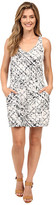 Calvin Klein Jeans Printed Tencel Racerback Dress