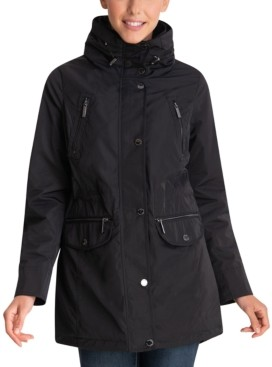 Michael Kors Michael Petite Hooded Anorak Raincoat, Created for Macy's