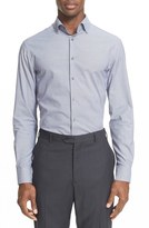 Armani Collezioni Trim Fit Micro Pattern Dress Shirt