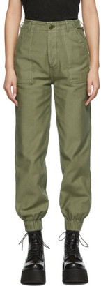 R 13 Green Utility Trousers